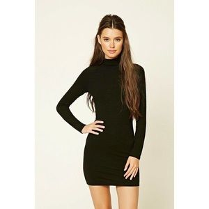 Forever 21 Body Con Turtle Neck Dress